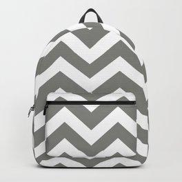 Battleship grey - grey color - Zigzag Chevron Pattern Backpack