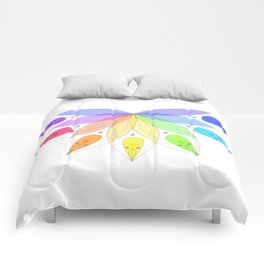 Sacred rainbow Comforters