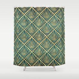 Stylish geometric diamond palm art deco inspired Shower Curtain