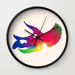 Triceratops in Colour Wall Clock