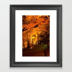 The Golden Path Framed Art Print