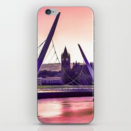 Derry / Londonderry Peace Bridge. (Painting.) iPhone Skin