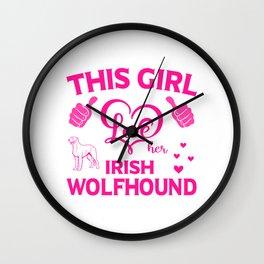 This Girl Love Her Irish Wolfhound mag Wall Clock