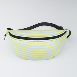 Yellow Chalk and Light Blue Vintage Thin Stripes Fanny Pack