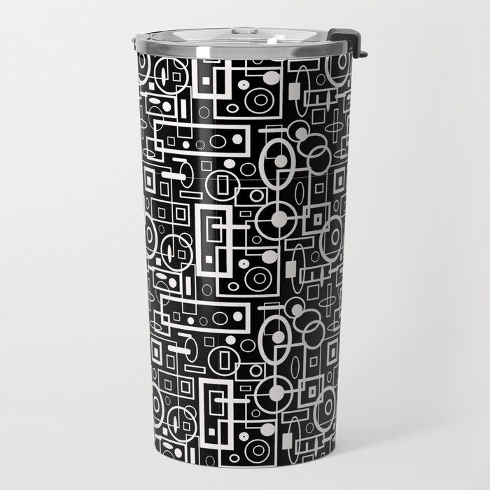 Rectangles and Elipses in BnW (2018) Travel Mug