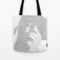 notorious big Tote Bags featuring Notorious B.I.G. by Ricky Riccardo