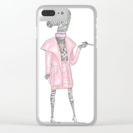 Regina George as CEO Zebra Clear iPhone Case