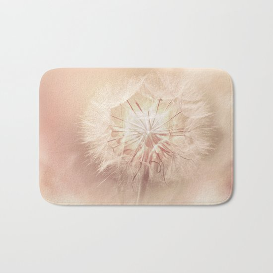 Pink Dandelion Flower - Floral Nature Photography Art and Accessories Bath Mat