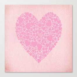 Rose Hearts Canvas Print