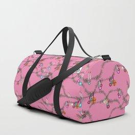 Holiday cheer hot pink Duffle Bag