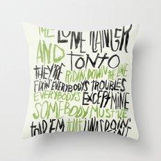LONE RANGER Throw Pillow