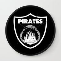 pirates Wall Clocks featuring Pirates  by Buby87