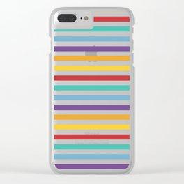 Modern geometrical colorful rainbow stripes Clear iPhone Case