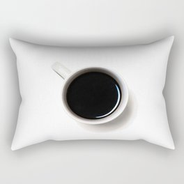 Black Coffee (Black and White) Rectangular Pillow