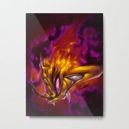Yellow On Fire Metal Print