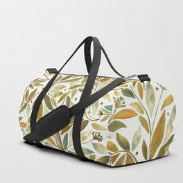 Leafy Brown Duffle Bag