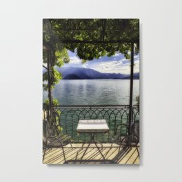 Lake View, Varenna, Lake Como, Lombardy, Italy Metal Print
