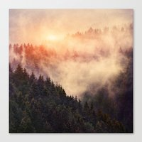 smoke Canvas Prints featuring In My Other World by Tordis Kayma