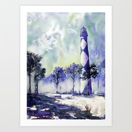 Cape Lookout lighthouse- Outer Banks, North Carolina Art Print