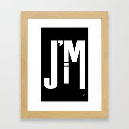 I'M JIM (white) Framed Art Print
