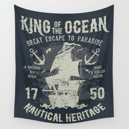 King of the Ocean Wall Tapestry