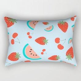 Fuit Salad (Baby Blue) Rectangular Pillow
