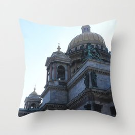 The architecture of St. Isaac's Cathedral. Throw Pillow