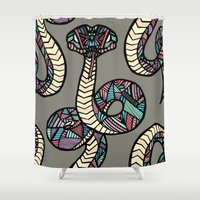 anaconda Shower Curtains featuring Anaconda by schillustration