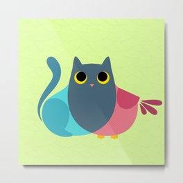 Owlcat Venn Diagram Metal Print