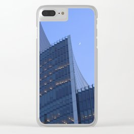 Willis Building and Crescent Moon Clear iPhone Case