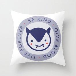 Tiny Vampire Motto Throw Pillow