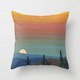 Arizona Moonrise Throw Pillow