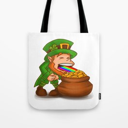 Vomiting Leprechaun St. Patricks Pot Of Gold Tote Bag