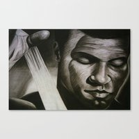 ali gulec Canvas Prints featuring ALI by John McGlynn