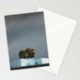 Muskox Chillin' on an Iceberg Stationery Cards