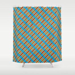 Pixel Hot Dogs Shower Curtain