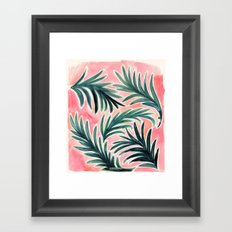 Lush Tropical Palm Framed Art Print
