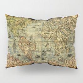 Vintage Old World Map Pillow Sham