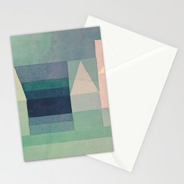 """Paul Klee """"Three Houses 1922"""" Stationery Cards"""