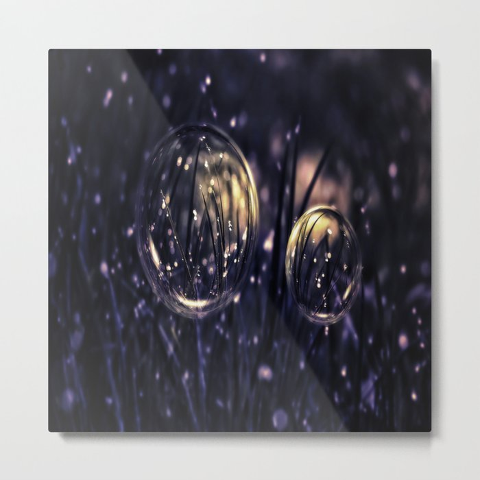 Dropping Bubbles Metal Print