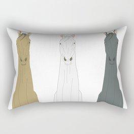 Triple Horses Rectangular Pillow