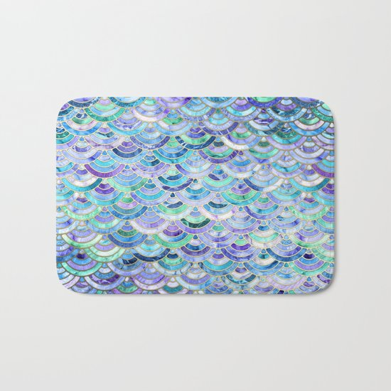 Marble Mosaic in Sapphire and Emerald Bath Mat
