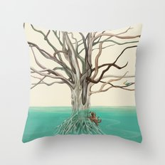 Octotree Throw Pillow