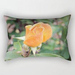 Single Orange Rose Rectangular Pillow