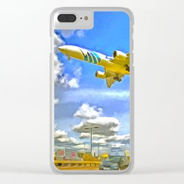 Airliner Pop Art Clear iPhone Case