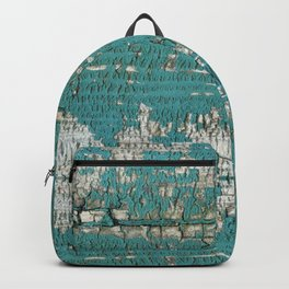 Rustic Wood Turquiose Paint Weathered Backpack