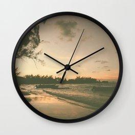 Bay Sunset Wall Clock