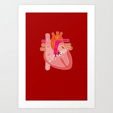 Heart Diagram Art Print