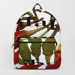 Chili Color Wheel With Hot Pepper Text Backpack