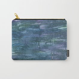 Metallic blue abstract watercolor Carry-All Pouch